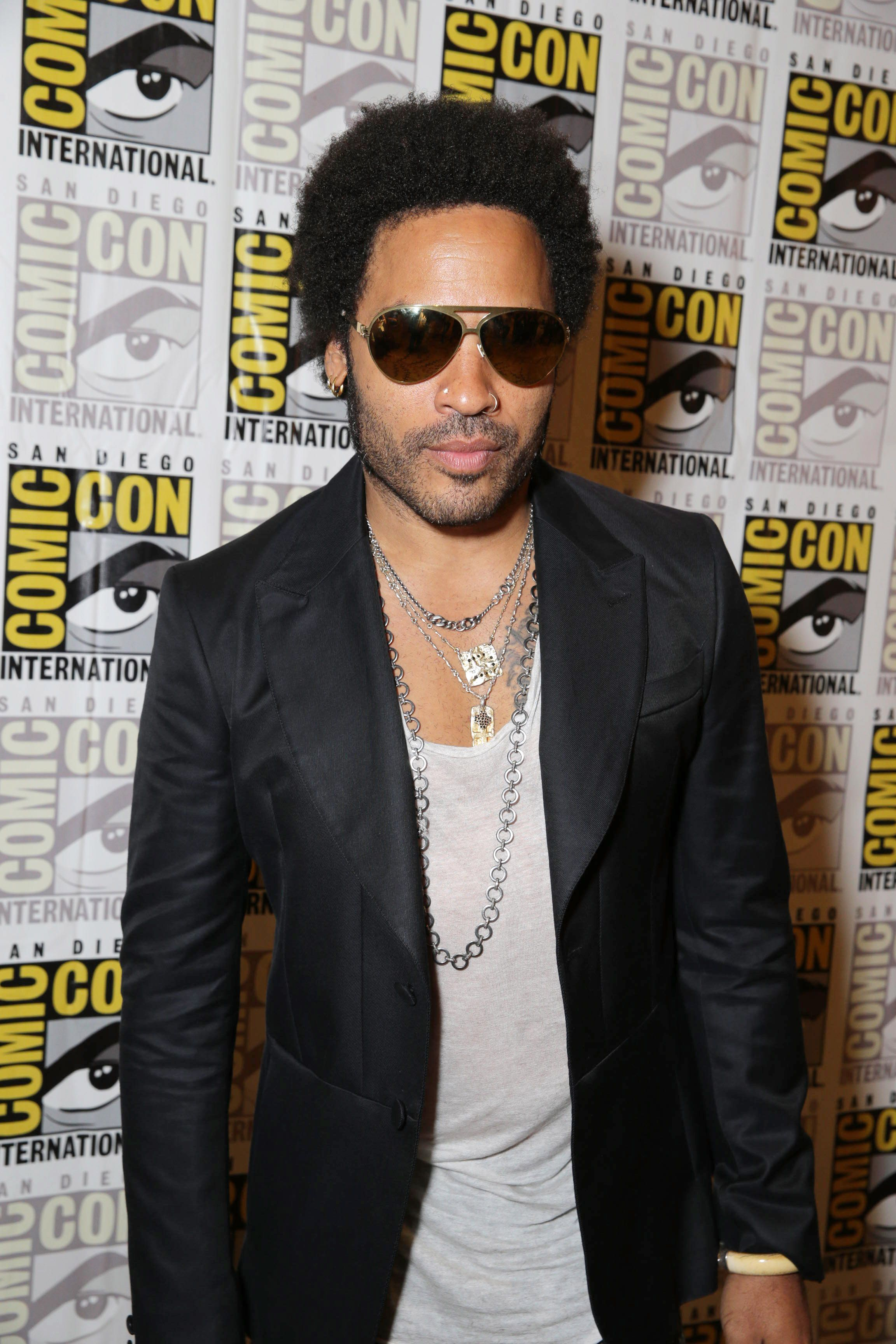 Lenny Kravitz Cinna At The Sdcc Press Line Lenny Kravitz