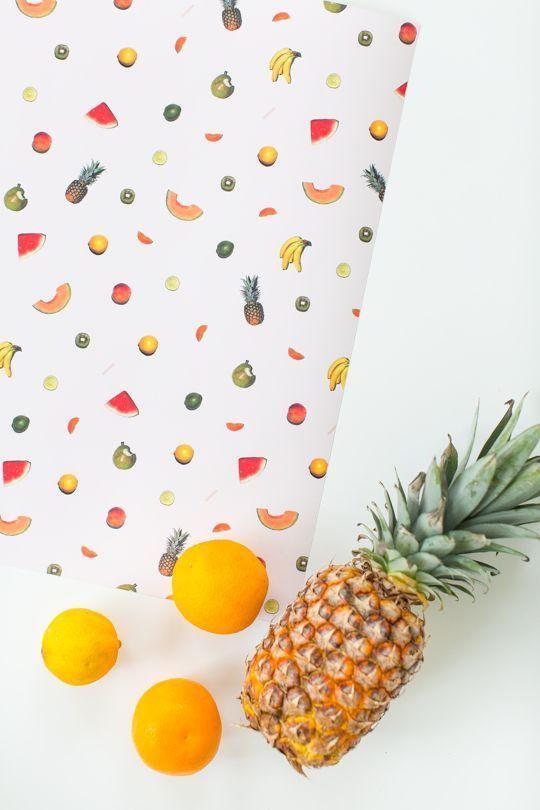 DIY printable fruit wall art | sugar & cloth