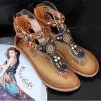 I think you'll like Sandals,Women sandals,leather Sandals Australia bohemia flat sandals tropical gem beaded brand slipper summer flat shoes (US Size). Add it to your wishlist!  http://www.wish.com/c/53894ba1796f686a78405436