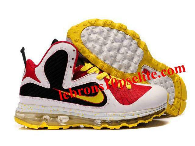 wholesale dealer 0b4f6 dac5a Nike Air Max LeBron 9 MVP Shoes Black Red White Yellow