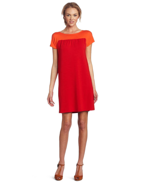 Amazon.com: Only Hearts Women's So Fine Color Block Yoke Shift Dress: $132