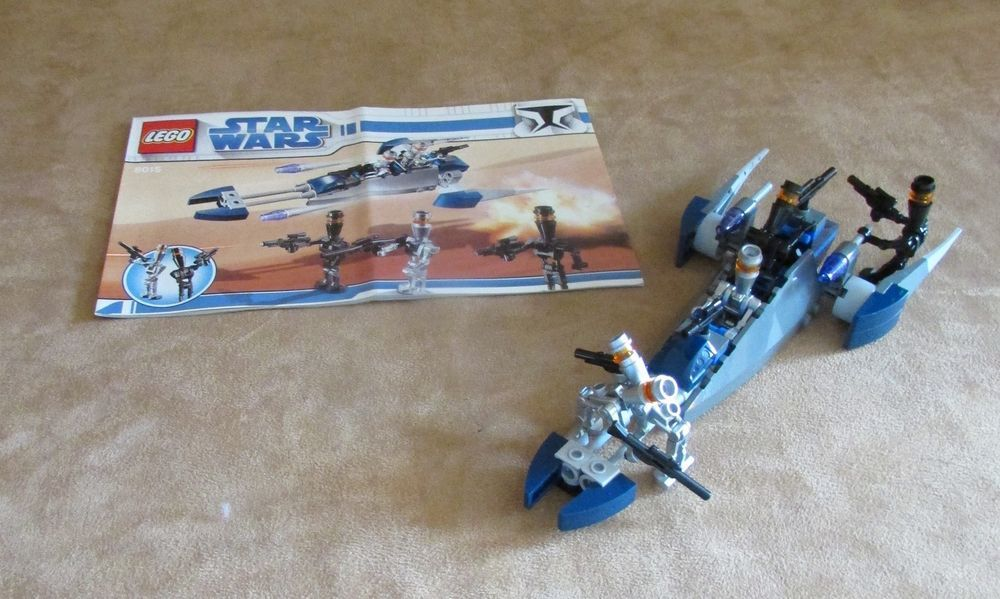 8015 Lego Complete Star Wars The Clone Wars Assassin Droids Battle