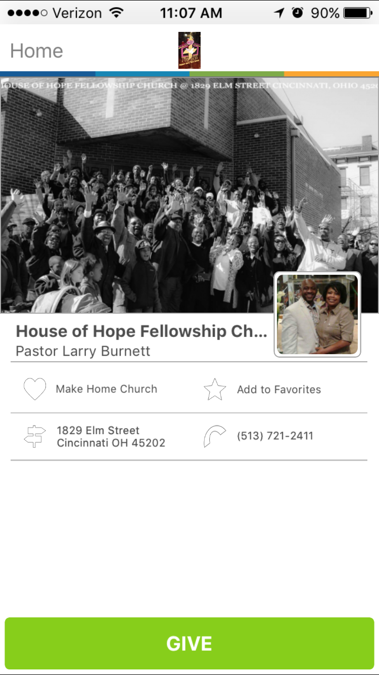 House Of Hope Fellowship Church In Cincinnati Ohio Givelifychurches Church Place Of Worship Cincinnati