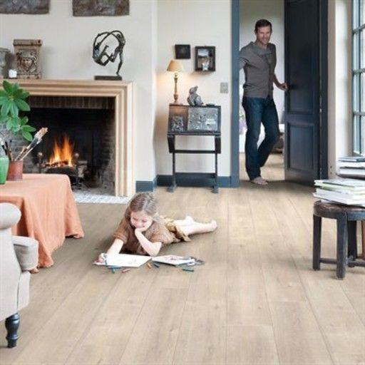 Quickstep Impressive Saw Cut Oak Beige Laminate Flooring, 8 mm, QuickStep Laminates - Wood Flooring Centre