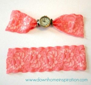 DIY Lace Cuff Watch - Down Home Inspiration