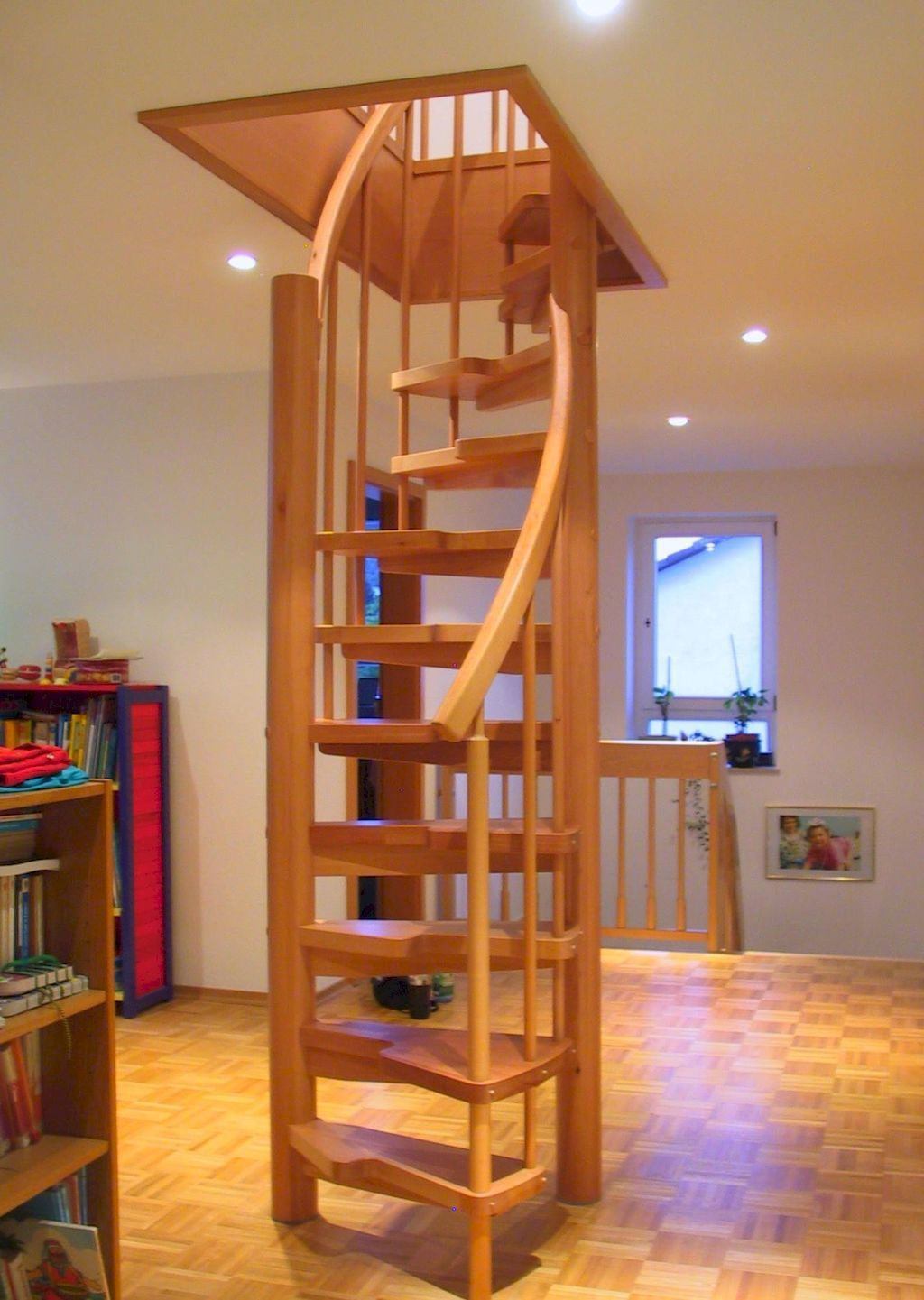 1 bedroom plus loft   amazing loft stair for tiny house ideas  Trains planes and