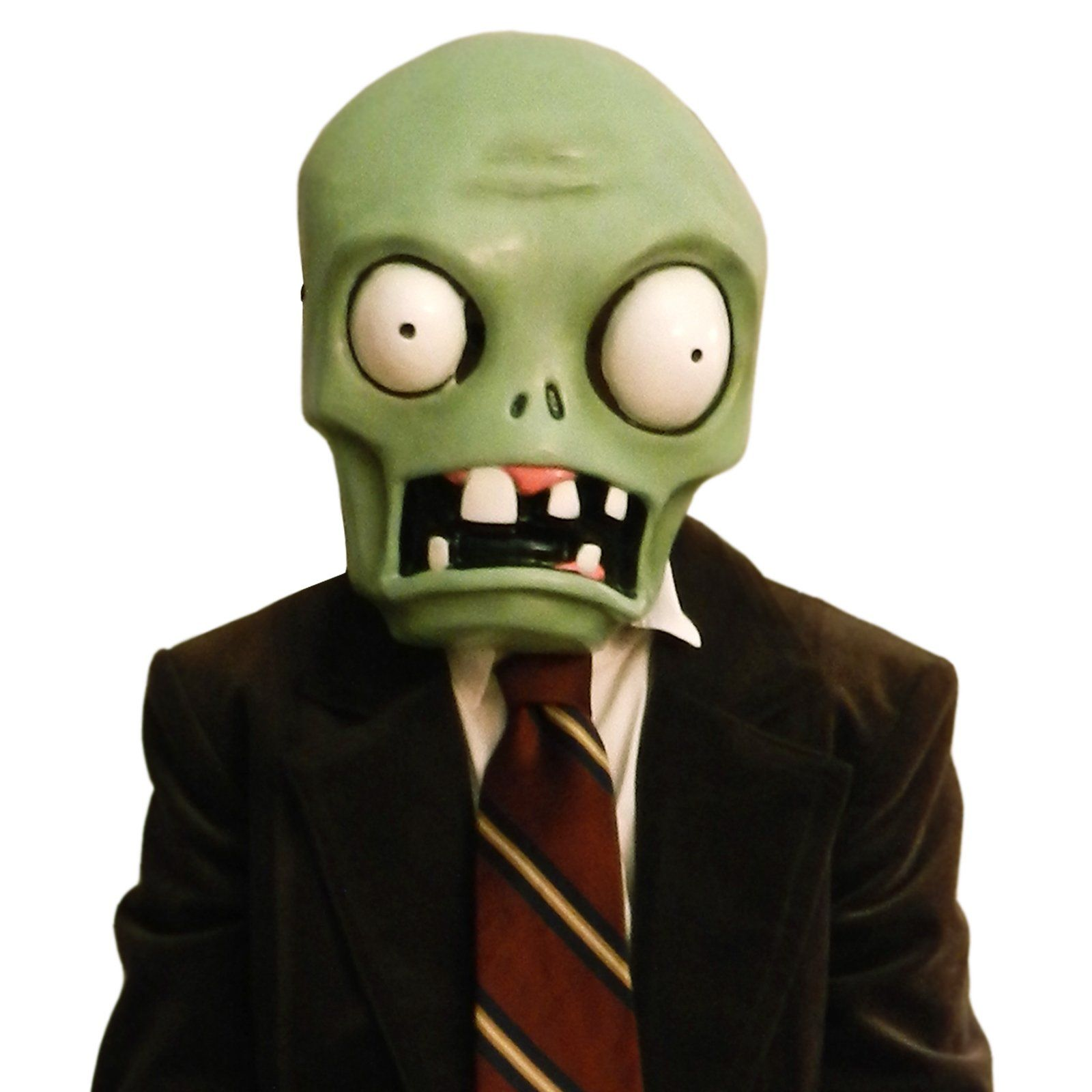 Plants vs. Zombies Basic Zombie Plastic Mask from CostumeExpress ...