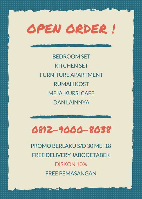 Open Order Furniture Custom Jati Belanda Service Area