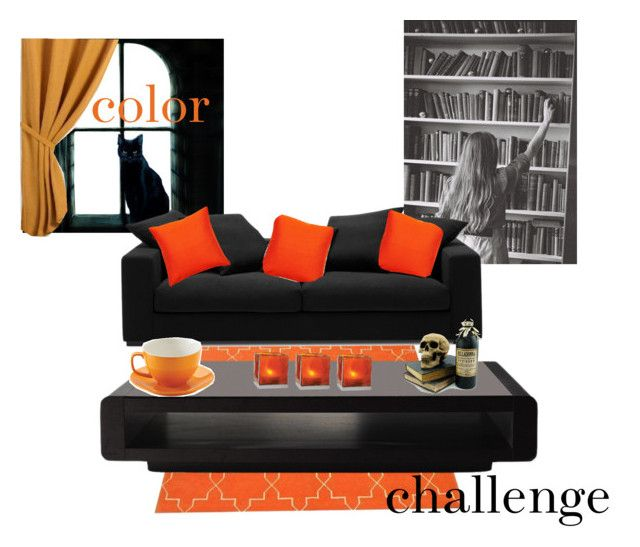 """orange and black"" by twirlgirllife on Polyvore featuring interior, interiors, interior design, home, home decor, interior decorating, Madeline Weinrib, BoConcept, GANT and Cultural Intrigue"