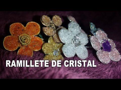 DIY FLORES DE CRISTAL EN BROCHE HAZLO TU - FLOWERS CRYSTAL BROOCH - YouTube