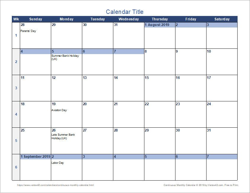 25 color coded calendar template in 2020 calendar