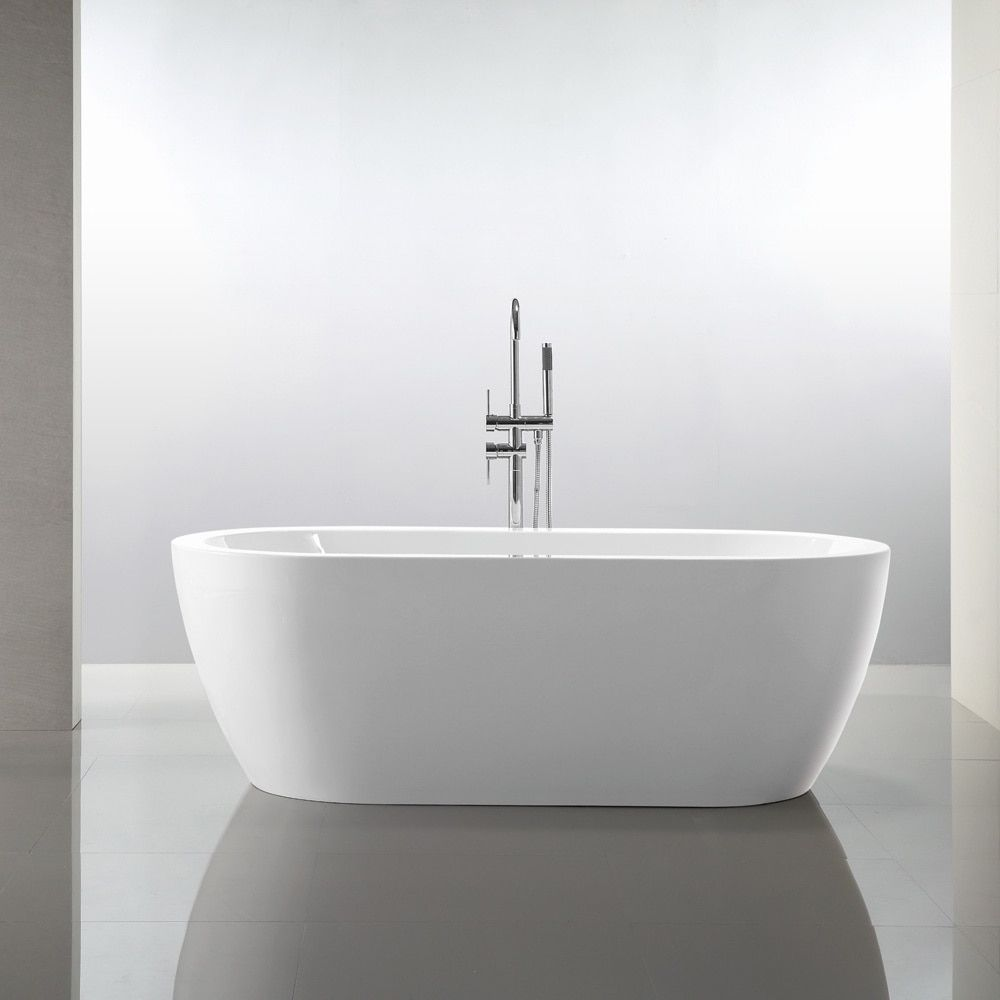 Vanity Art 68 1 Freestanding Acrylic Bathtub Modern Stand Alone