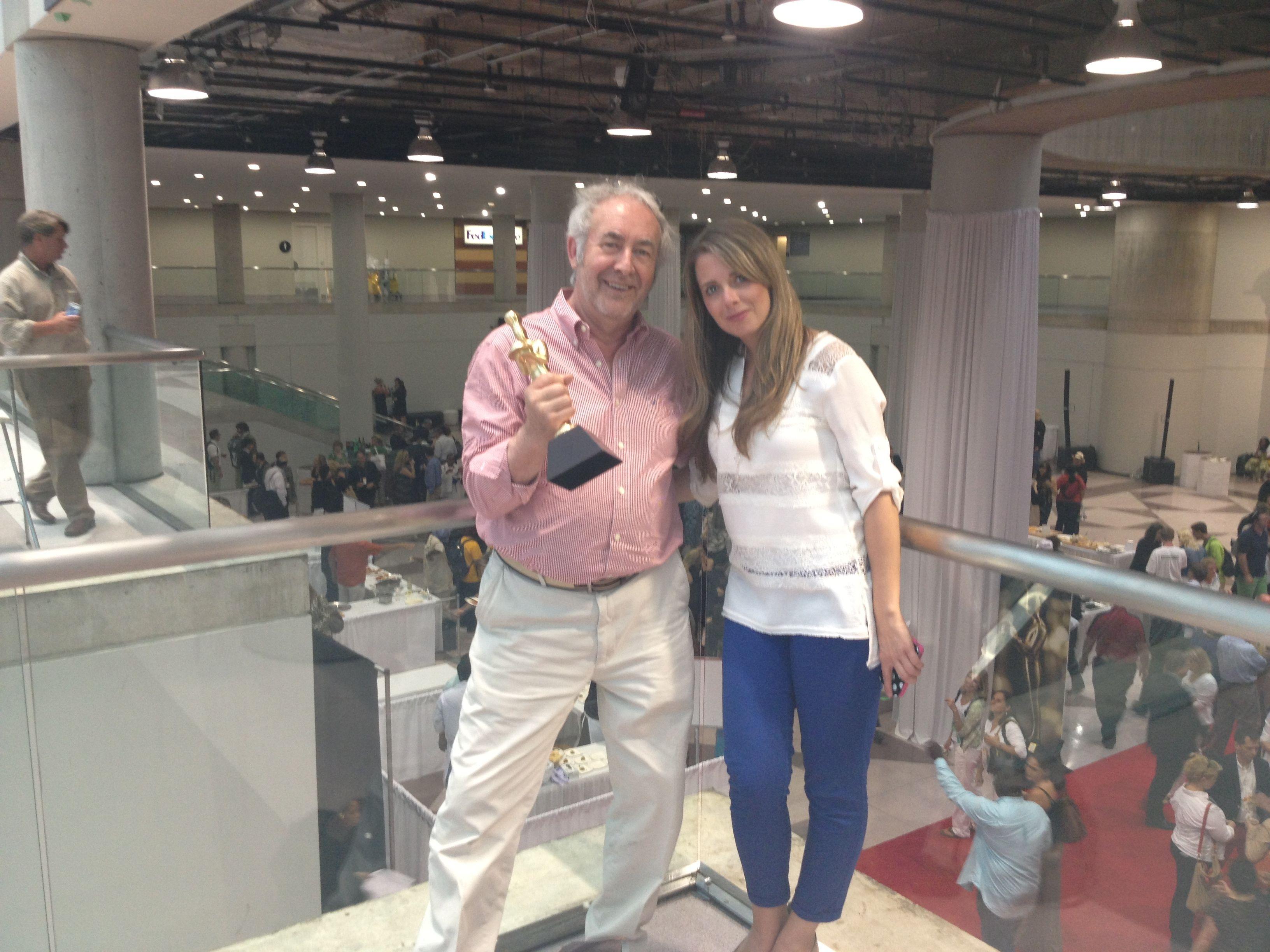 Winning the SOFI award in New York, Mike & Ashley Tott