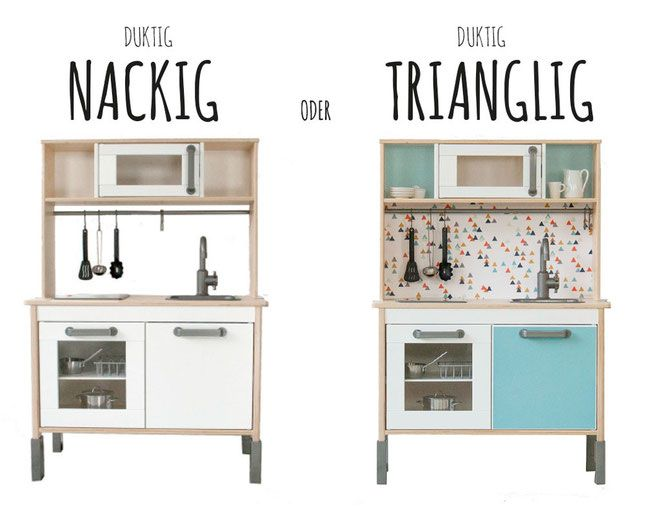 ikea hack duktig so einfach kannst du deine ikea kinderk che in farbe tauchen ohne u farbe und. Black Bedroom Furniture Sets. Home Design Ideas