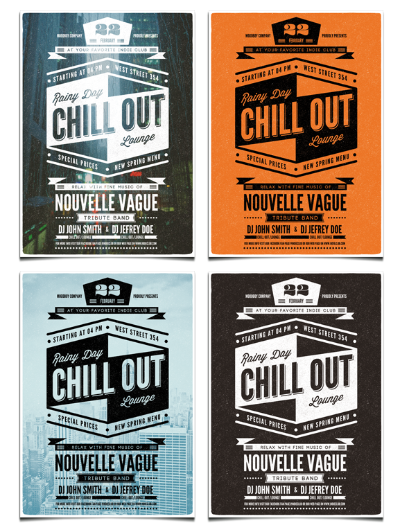 Chill Out Flyer/Poster Template by moodboy , via Behance