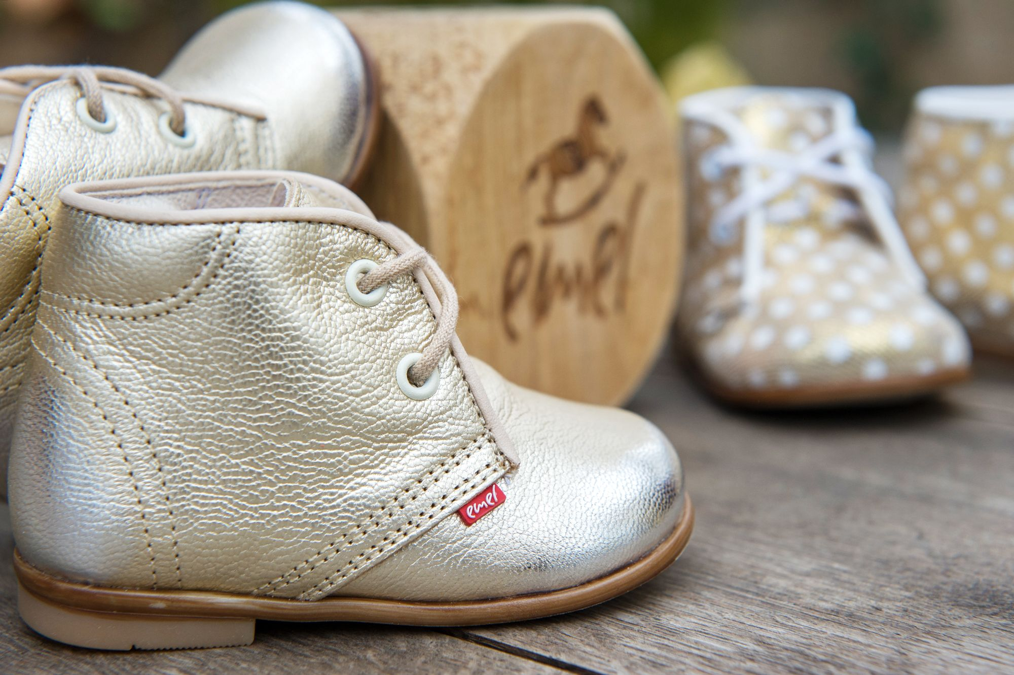 ab7c9b578 Handmade children shoes - Emel shoes - made in Europe - golden shoes - baby  shoes