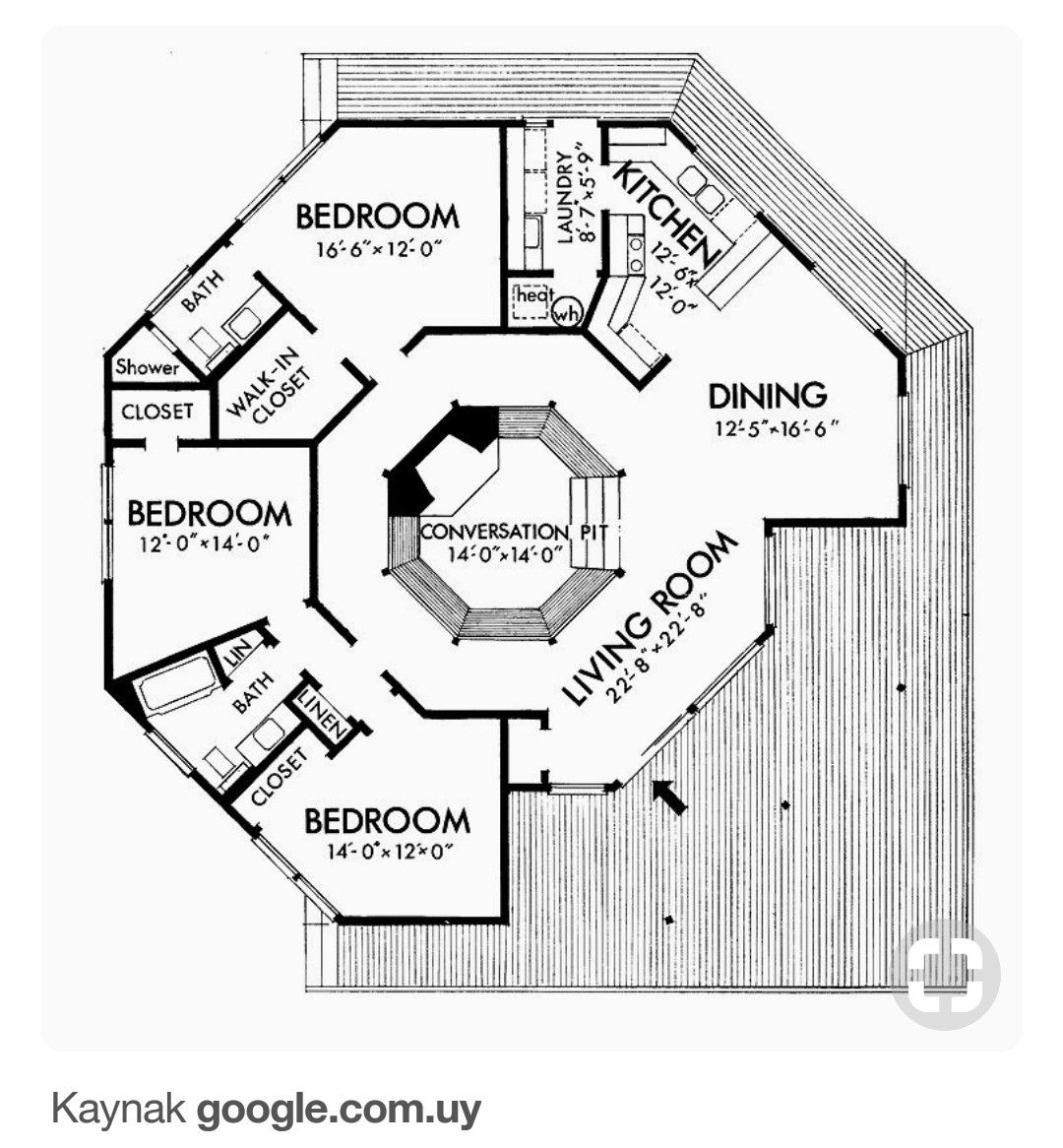 Pin By Shane N C On Mimari Proje Fotograf Detay Square House Plans Round House Plans Octagon House