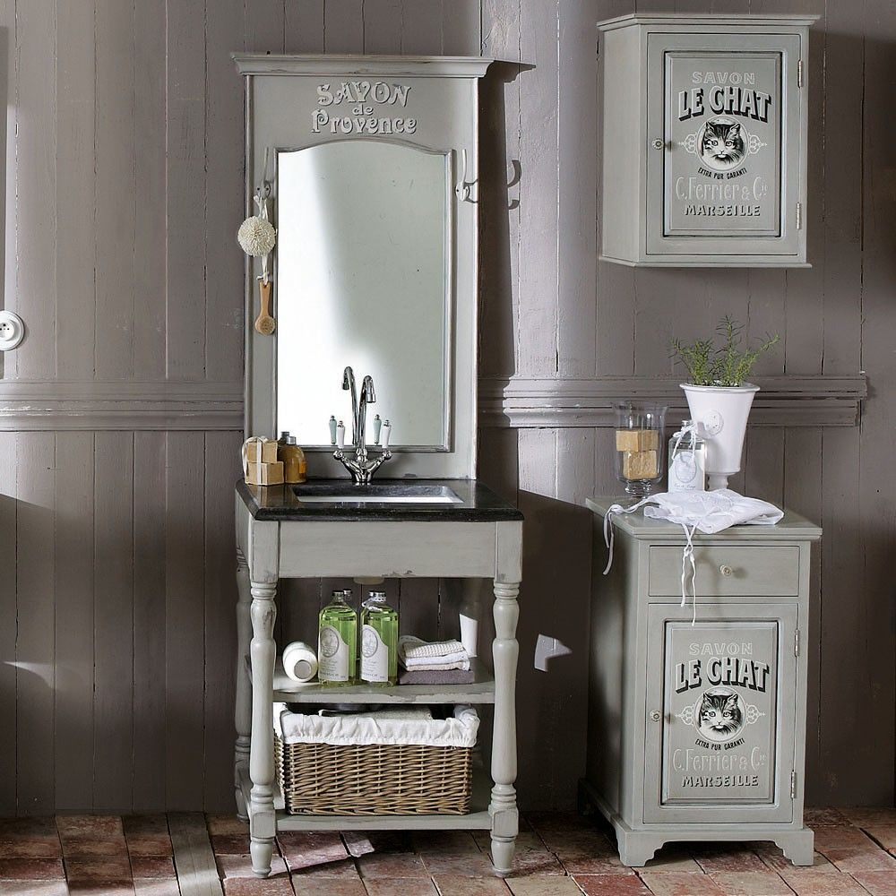 Meuble Une Vasque Salle De Bain SAINT-RÉMY Maison Du Monde 799euros  H190xl65xd50