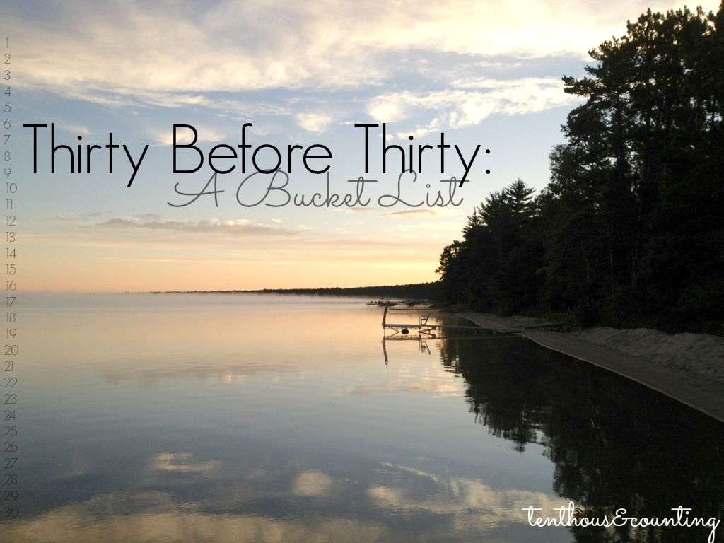 Thirty Before Thirty: A Bucket List - TenThous&Counting
