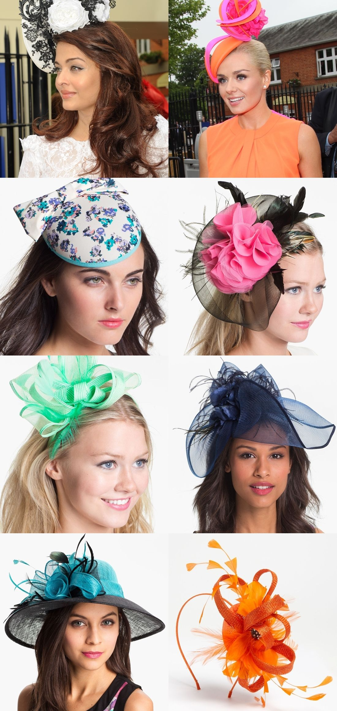 c24327d1546 8 Cute Fascinators and Hats for an Ascot-Themed Party