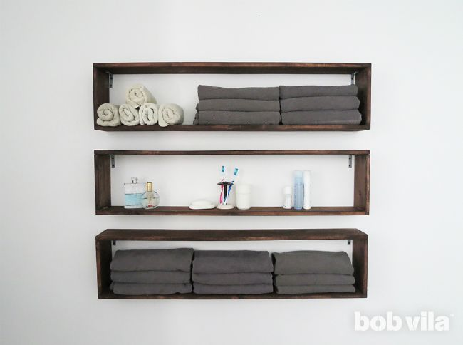 Diy Lite Double Bathroom Storage With Easy Build Box Shelves With Images Diy Storage Shelves Diy Bathroom Decor Box Shelves