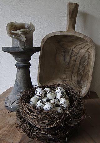 Paassfeer Onder De Rieten Kap Natuurlijk Decoreren Paasdecoratie Vazen Decoreren