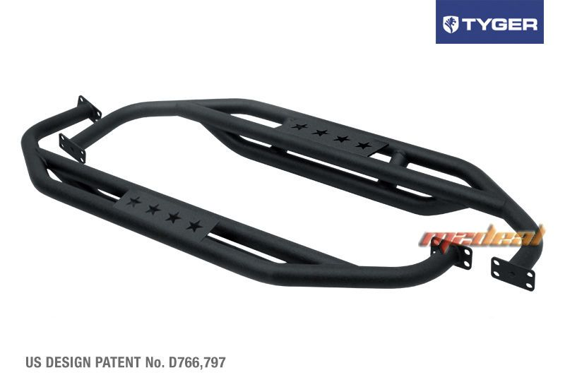 Rampage Double Tube Front / Rear Bumper Black for Jeep