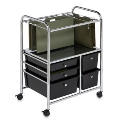 Stay Tidy And Organized In Your Home Office Or At Work With This Versatile Honey Can Do 5 Drawer Rolling File Cart File Carts Hanging Files Honey Can Do
