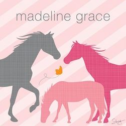 Oopsy Daisy Modern Horses - Pink only $99.00 - Canvas Wall Art