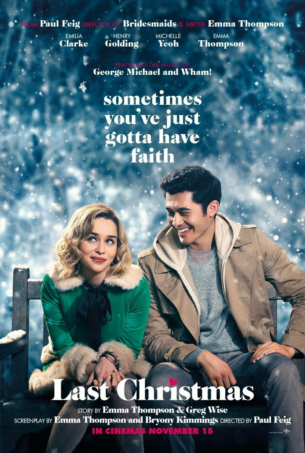 New Poster For The Movie Last Christmas Lastchristmas