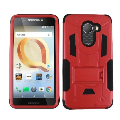 Red Contempo Tech Stand Case For T-Mobile Revvl Phone