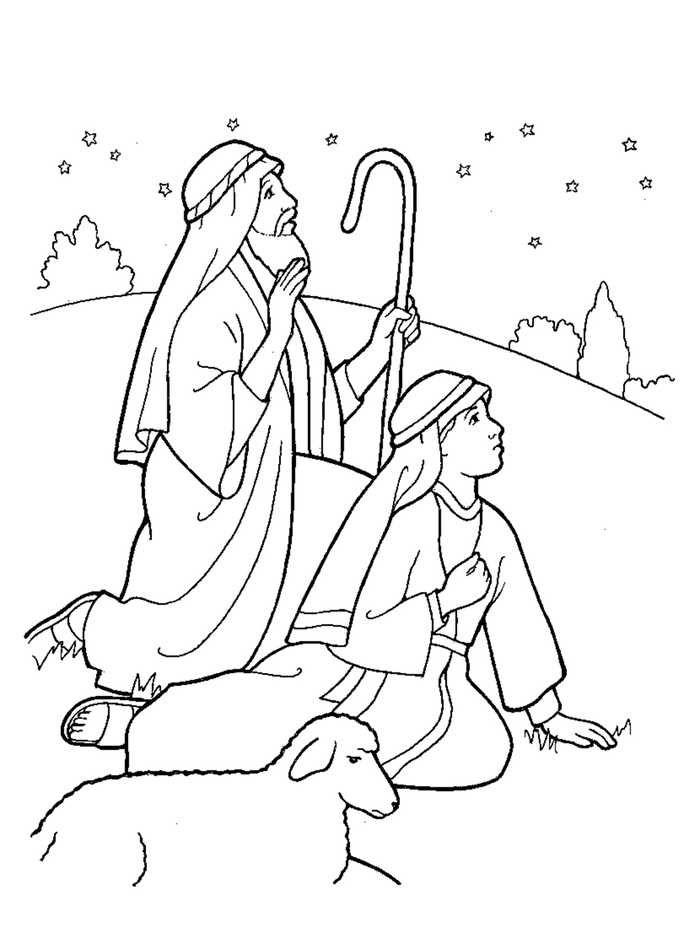 Nativity Coloring Page Free - Free Coloring Sheets #coloringsheets