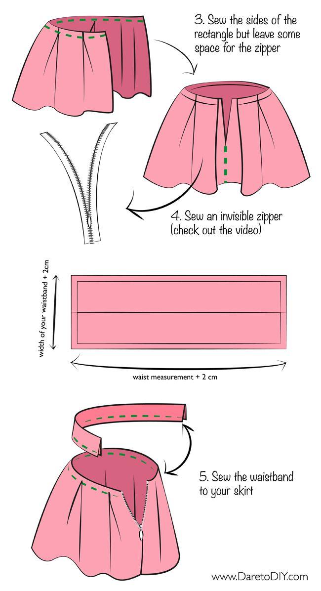 comment faire une jupe patron adulte pinterest bricolage en anglais diy jupe pliss e et. Black Bedroom Furniture Sets. Home Design Ideas