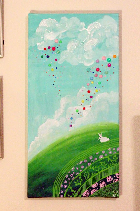 Enamel Dots on a Painting