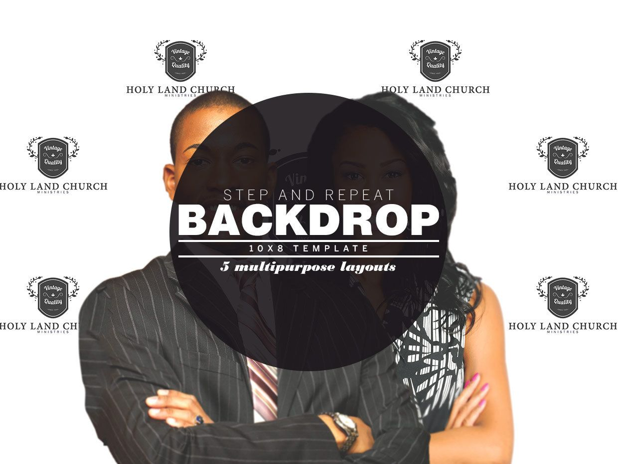 Step And Repeat Backdrop Photoshop Template 10x8 Etsy Banner Template Banner Template Design Photoshop Template