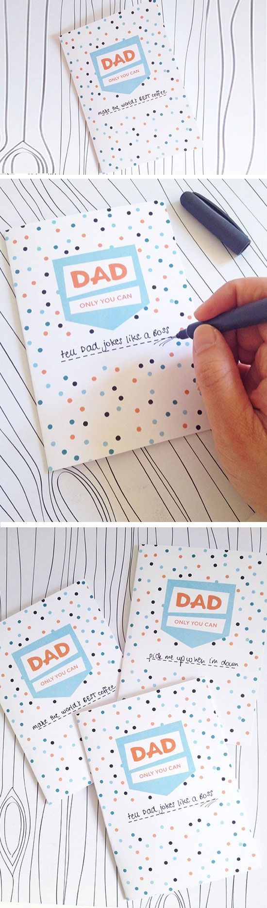 25 Easy Homemade Fathers Day Cards To Make Diy Birthday Cards Diy