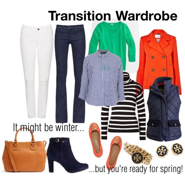 """""""Transition Wardrobe"""" Seven pieces to get you to spring! Click to see more like this."""