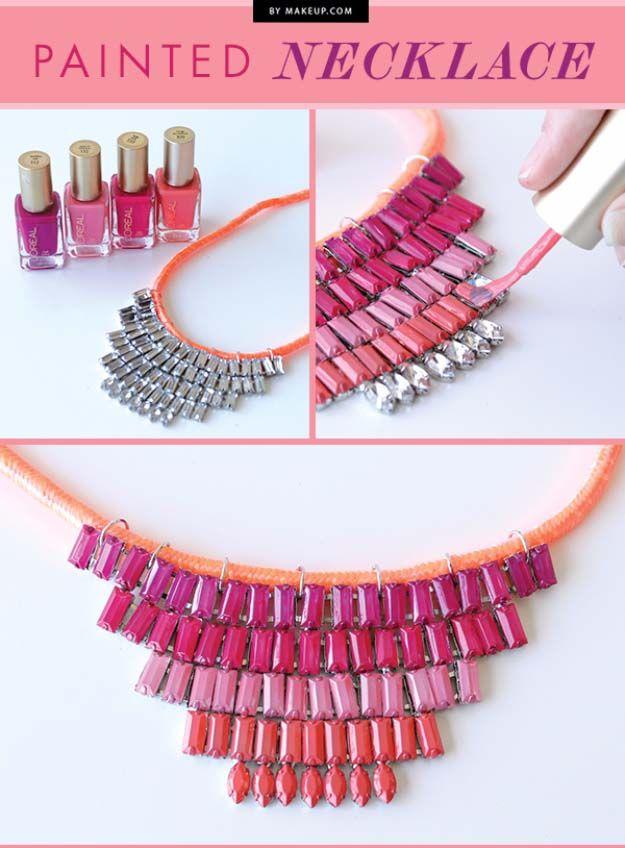 31 Incredibly Cool Diy Crafts Using Nail Polish Fun Diy Jewelry