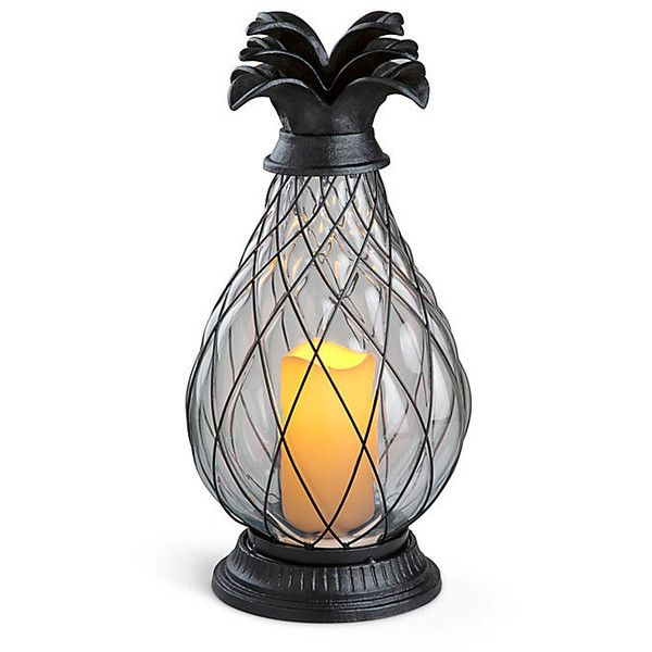 Improvements Battery Operated Glass Pineapple Hurricane Lamp Large 90 Lik Battery Operated Lights Outdoor Hurricane Lamps Outdoor Battery Lights