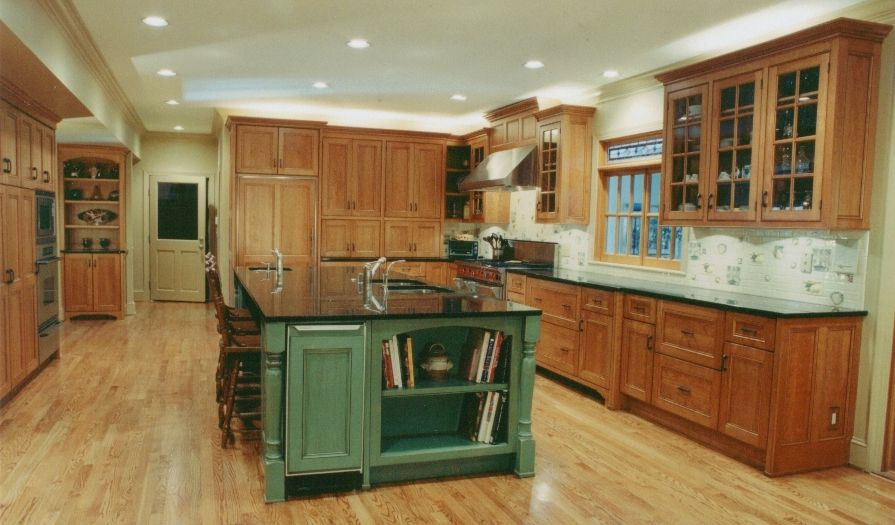 Green kitchen cabinets kitchen with sage green for Green and brown kitchen ideas