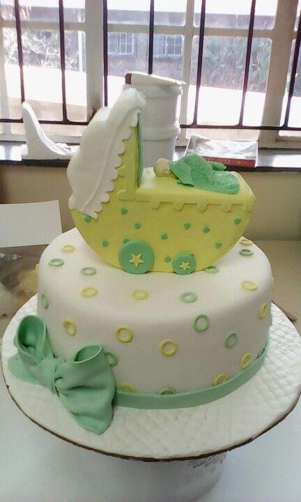 Lemon baby shower cake