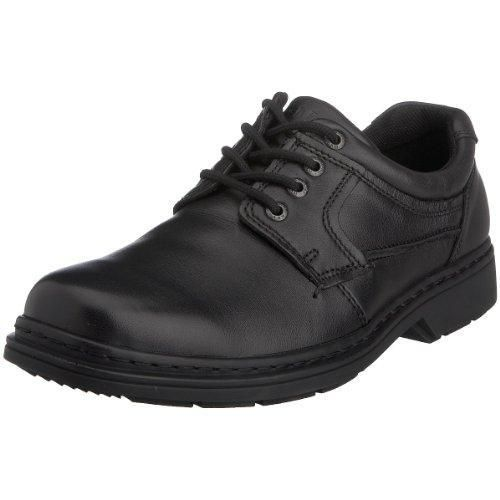 Clarks Hopton Walk, Zapatos de Cordones Derby para Hombre, Negro (Black Leather), 44 EU