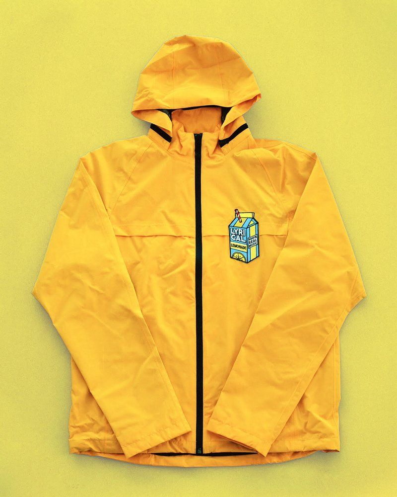 b8b79592 Lyrical Lemonade Carton Patch Rain Jacket Yellow LARGE SIZE (SOLD OUT IN 5  MINUTES)