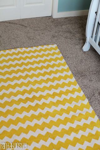 Baby Nursery Gray And C Design Yellow Chevron Rug Http Fantabulosity