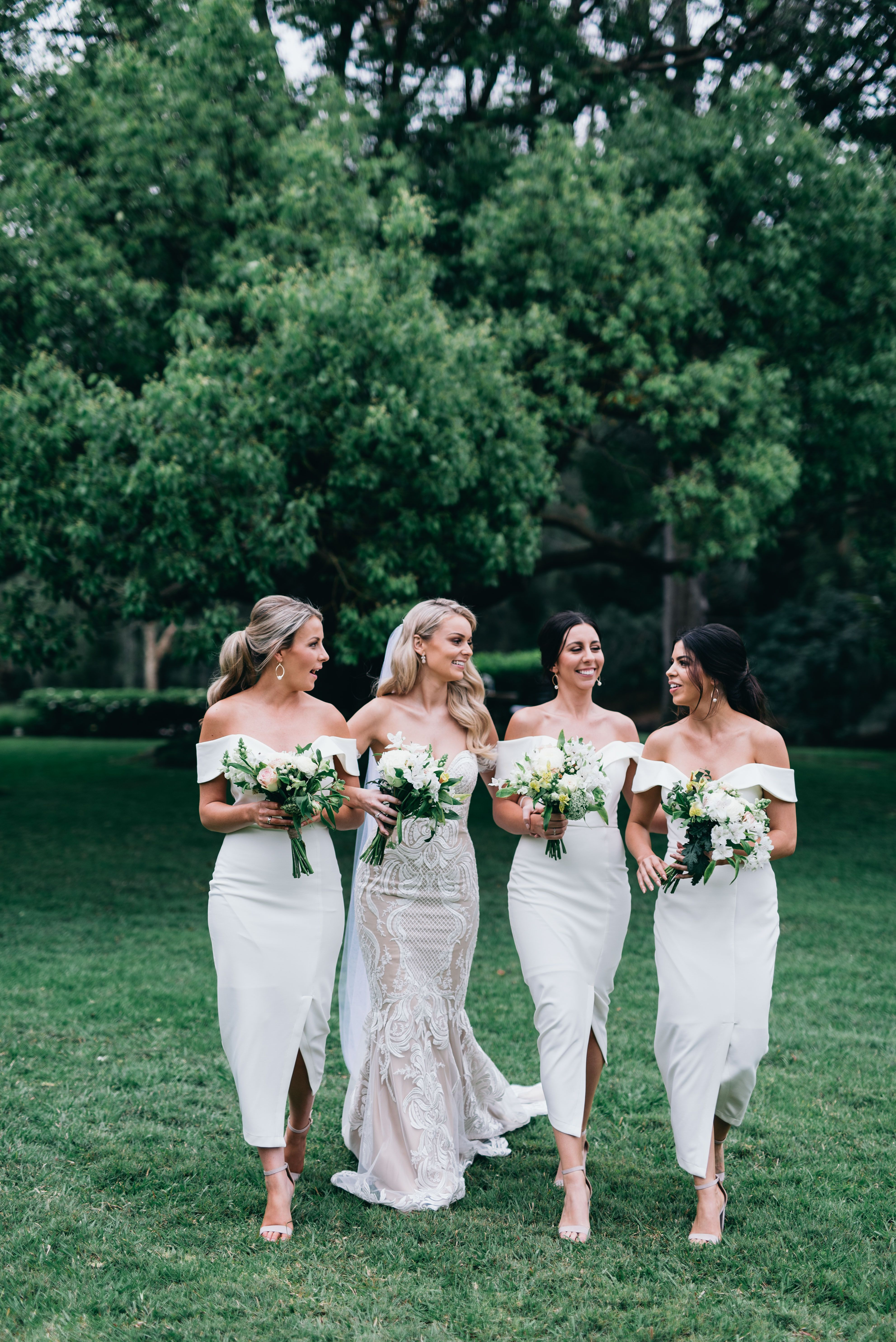 White Connelly Midi Bridesmaids Real Runway White Runway Blog Bridesmaid Dresses Ankle Length Midi Bridesmaid Dress White Bridesmaid Dresses [ 5939 x 3965 Pixel ]