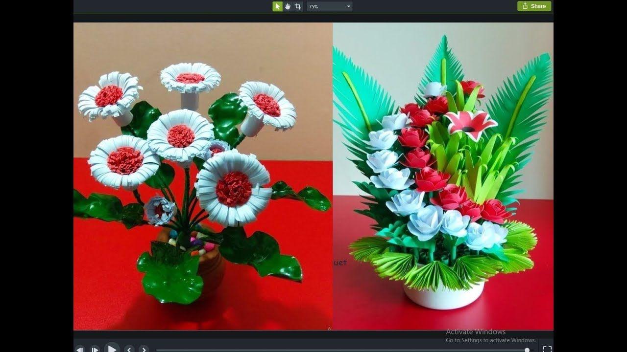2 Easy Paper Flower Bouquet Diy Flowers Making Rom