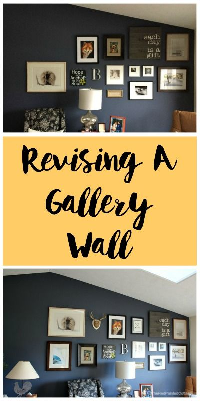 See how to add to and/or revise an existing gallery wall, great ...