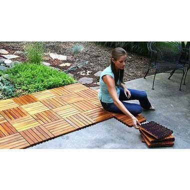 Plantation Teak Deck Tiles - for the back patio..would look great