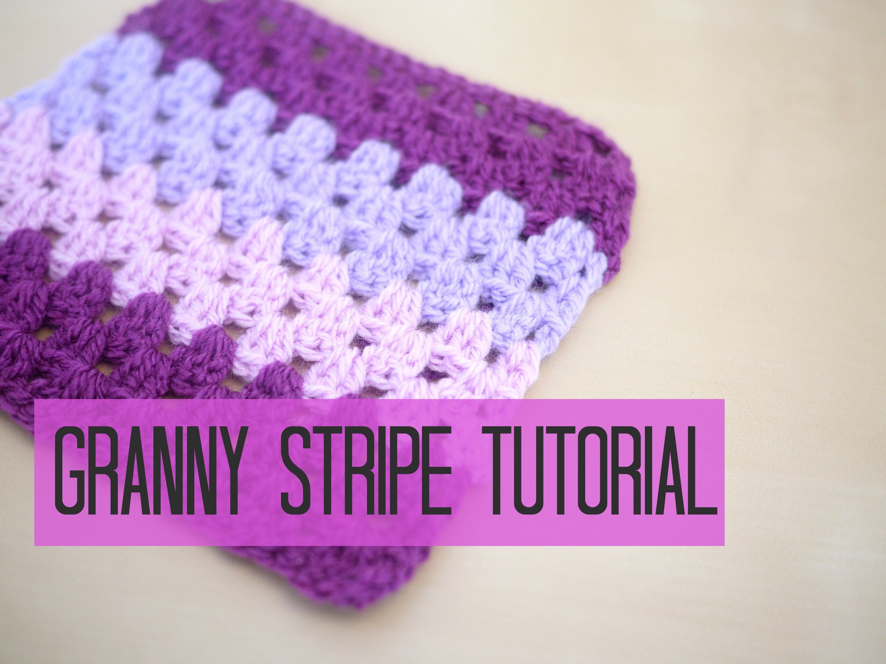 Tutorial on how to make a granny stripe blanket in UK terms with US ...