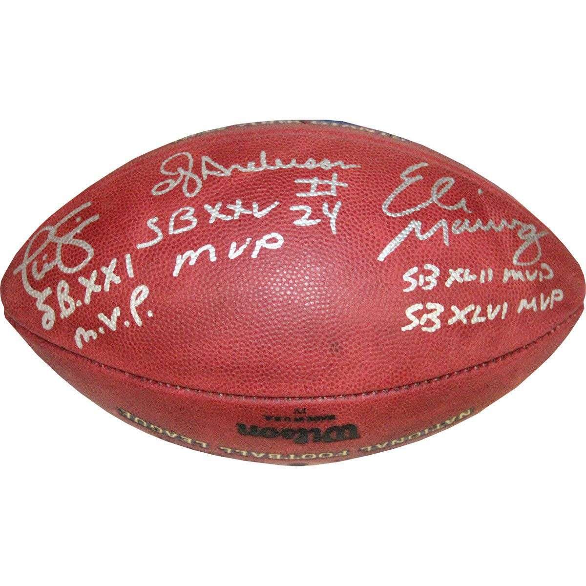 130b7785a New York Giants Super Bowl MVPт€™s Signed New York Giants 4x Champs Football
